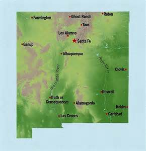 New Mexico Elevation Map by New Mexico State Maps Interactive New Mexico State Road