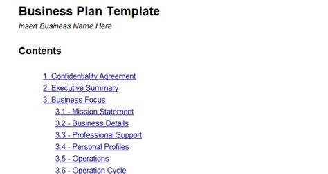 business plan structure template 10 useful docs templates for web mobile app designers