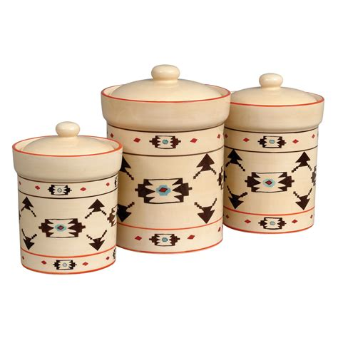 Western Kitchen Canister Sets Taos Canister Set 3 Pcs