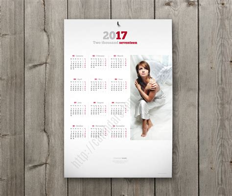 poster calendar layout 2018 yearly calendar template with large image pdf format