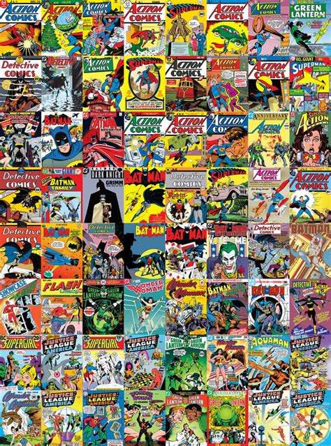 Vintage Dining Room Chairs Dc Comics Creative Collage Wallpaper 64 Pieces Tinker