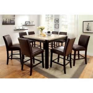 Marble Dining Table Set Furniture Of America Friedrich Modern 9 Counter Height Marble Dining Table Set Walmart