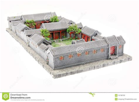 3d House Plans Indian Style china s courtyard model stock image image of chinese