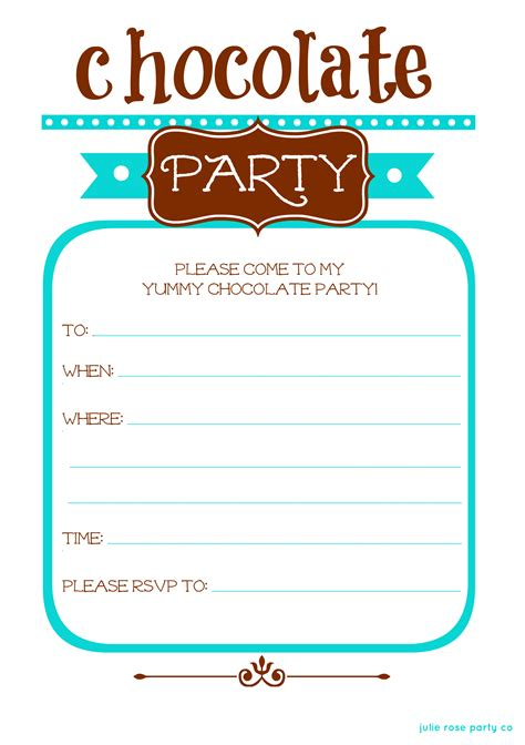 winter chocolate free invites and tags julie co