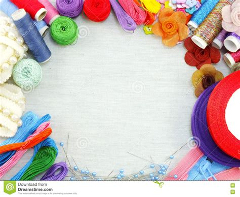 Handmade Sewing - sewing accessories for handmade sewing kit border