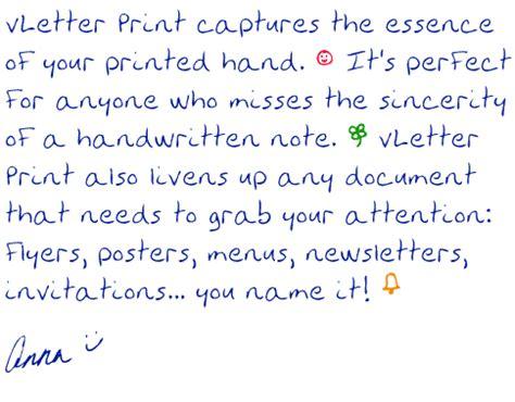 printed handwriting fonts vletter print vletter inc