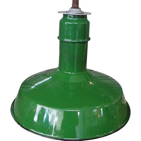 vintage abolite green porcelain pendant industrial light