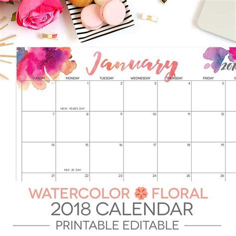 printable calendar letter size 2018 printable calendar editable 12 month letter size