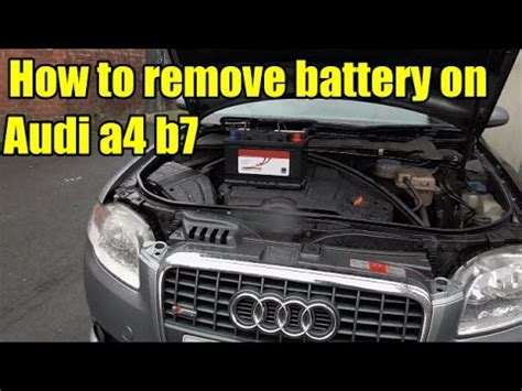 audi a4 battery how to remove audi a4 b7 battery