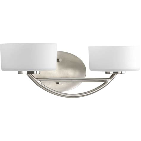 2 Light Vanity Fixture Progress Lighting Calven Collection 2 Light Brushed Nickel Vanity Fixture P3210 09wb The Home