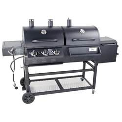 Backyard Grill Gas Charcoal Combination Grill Backyard Pro Portable Outdoor Gas And Charcoal Grill Smoker Knocked
