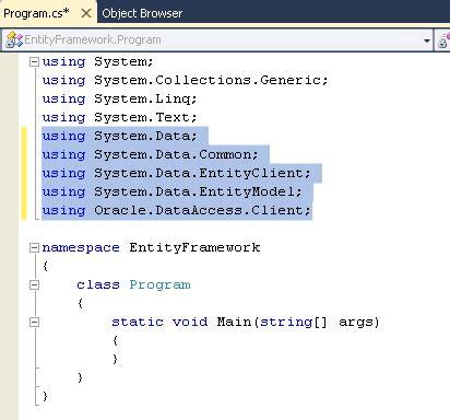 oracle networking tutorial 将 entity framework linq 和 model first 用于 oracle 数据库