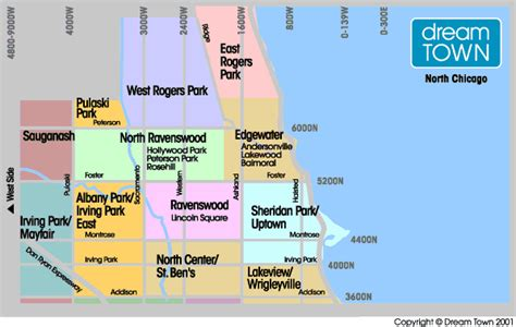 chicago northside neighborhood map chicago side neighborhood guide real estate