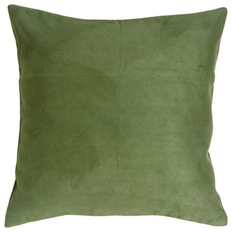 pillow decor 18 x 18 royal suede forest green throw