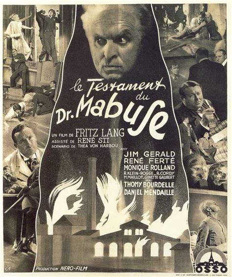 le lang the testament of dr mabuse posters from
