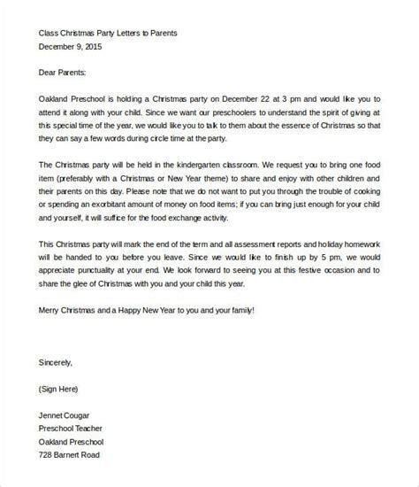 parent letter templates sample format