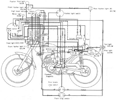 yamaha gt1 80 enduro motorcycle wiring schematics diagram