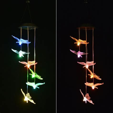 solar powered wind chime light image 174 color changing windlights solar powered led