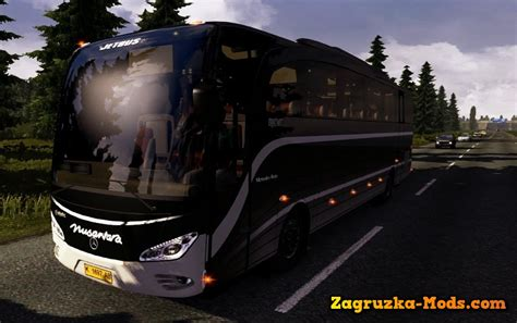 mod game ets 2 bus indonesia mercedes benz jetbus sound interior for ets 2