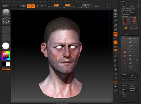 zbrush tutorial polypaint painting skin textures with color spray by gavin