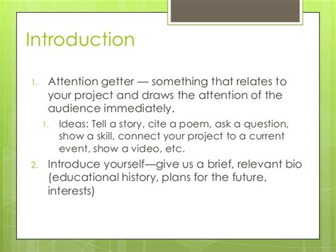 themes for senior presentation making your senior project presentation