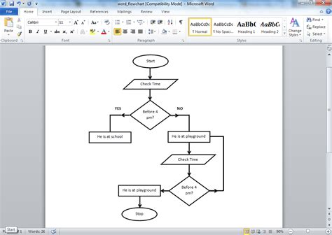 flowchart in word 2007 flow chart template word template business