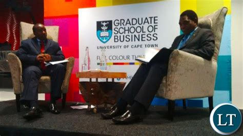 Uct Graduate School Of Business Mba Student Of The Eyar by Zambia Hh Addresses Students At Of Cape Town