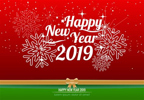 new year free happy new year 2019 background free vector
