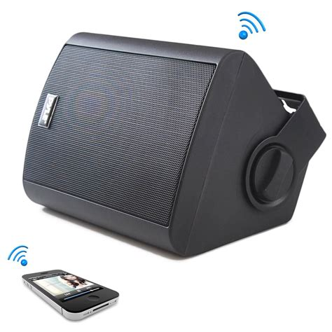 Speaker Five Bluetooth pyle pdwr51btwt wall mount waterproof