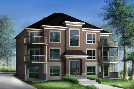 multiplex house plan 52764 familyhomeplans