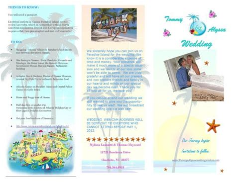 Sandals Wedding Brochure by My Dw Brochure Because It Was A Bit Hit Weddingbee