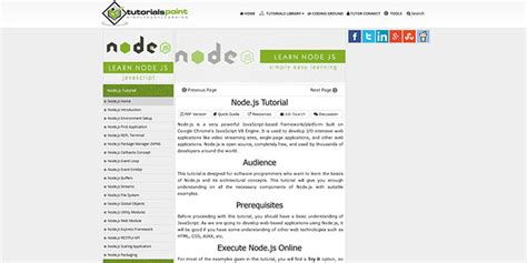 tutorialspoint node js want to learn node js here are some useful tutorials