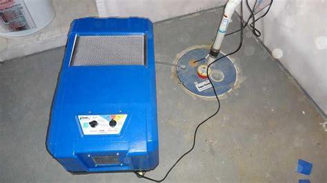 sanidry basement air system sanidry cx air machine dehumidifier and supersump sump system