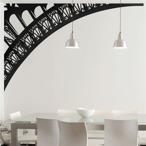 wall stickers eiffel tower eiffel tower arch wall decals by couture deco