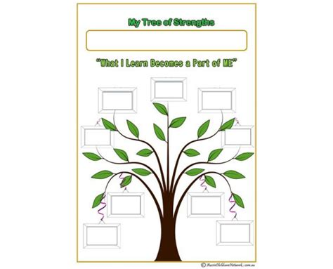 My Tree Of Strengths Aussie Childcare Network Goal Tree Template