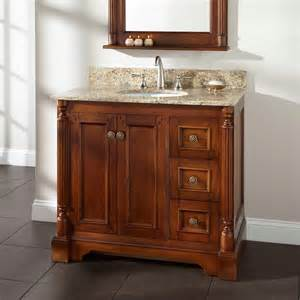 Walnut Bathroom Vanity 36 Quot Tullford Vanity For Undermount Sink Walnut Bathroom