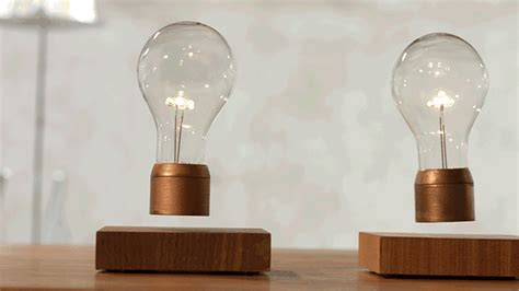 levitating bulb the flyte levitating light packs nikola tesla s tech into