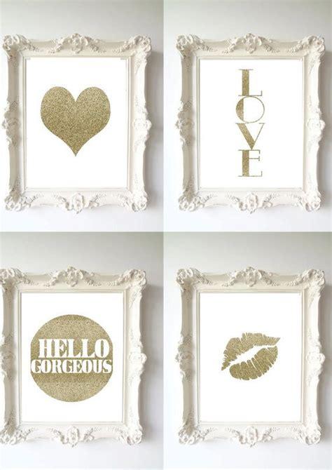 glitter home decor wall decor home decor gold glitter print decor print