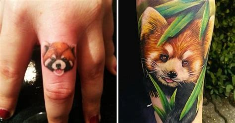 red panda tattoo 18 endearing panda tattoos tattoodo