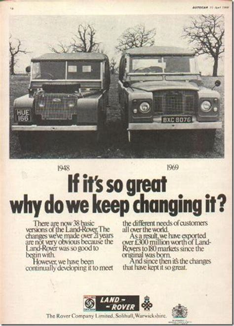 vintage land rover ad another great retro ad from land rover for the all new