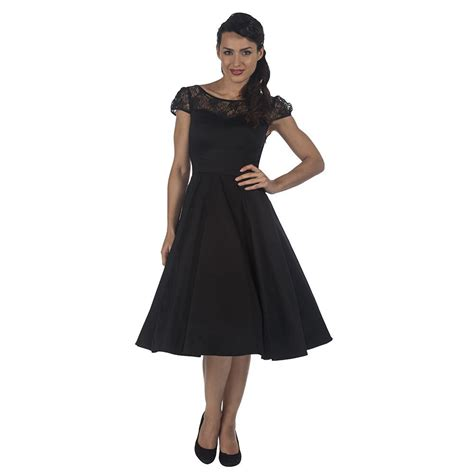 cocktail swing dress black lace rockabilly cocktail swing dress pretty kitty