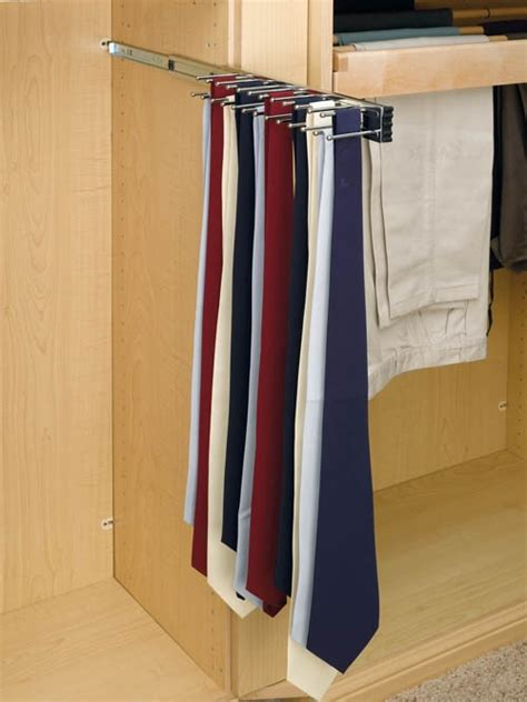 Tie Organizer For Closet by Rev A Shelf 12 Quot Tie Organizer Side Mount Pullout For