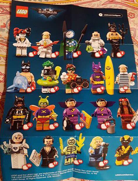 Lego 71020 Batman Cmf Series 2 Complete 20 Minifigures here s a sneak peak at the lego batman cmf series 2 the brick show