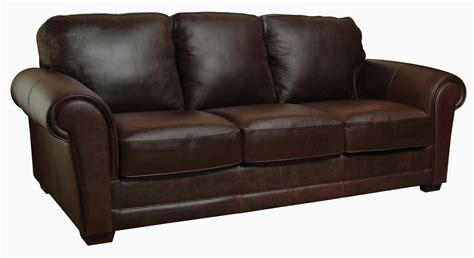 leather sofa new luke leather quot quot italian leather distressed chocolate brown sofa only ebay