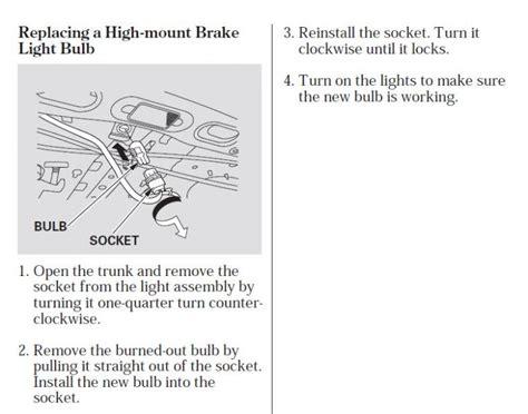 brake lights wont turn off honda accord how to switch 3rd brake light p honda tech