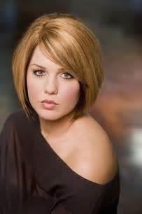 Full face women hairstyles for short hair straight bob haircut via