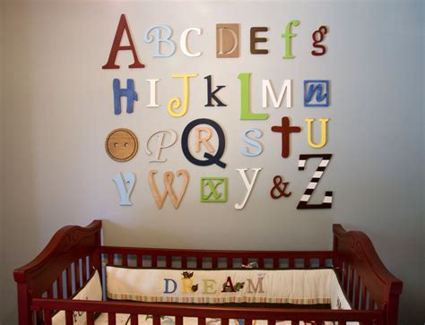 Wooden Alphabet Letters Set Painted Wooden Letters Wall Nursery Decor Letters