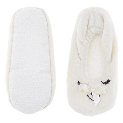 ballerina house slippers white animal ballerina house slippers for
