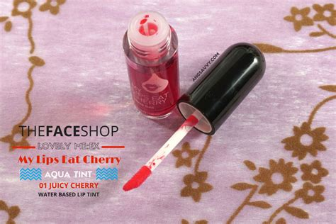 The Shop Aqua Tint the shop my eat cherry aqua tint review ang savvy