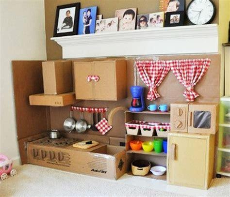 kids kitchen ideas diy cardboard play kitchen little fingers